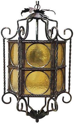 One Kings Lane Vintage Iron Lantern Circa 1940 - majolicadream - yellow/black