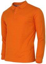 BCPOLO Men's Polo Shirt Cotton Solid Pique Long Sleeves Polo Shirt