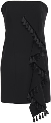 Cinq à Sept Nat Strapless Tassel-trimmed Ruffled Crepe Mini Dress