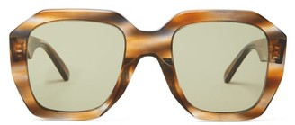 Celine Square Tortoiseshell-effect Acetate Sunglasses - Light Brown