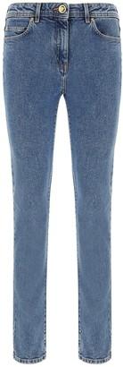 Versace Medusa-Patch Skinny Jeans