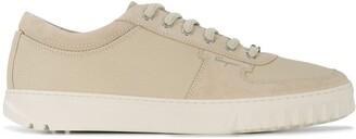 Salvatore Ferragamo Panelled Low-Top Sneakers