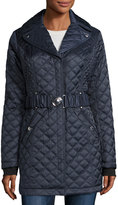 Laundry by Shelli Segal Quilted Mid-Length Coat, Mystic Blue