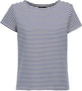 Theory Laveneg striped cotton-blend T-shirt