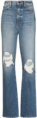 KHAITE Danielle distressed-effect jeans