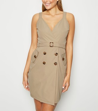 New Look Pink Vanilla Belted Wrap Dress