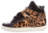 Maje Ponyhair High-Top Sneakers