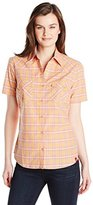 Dickies Women's Short-Sleeve Plaid Western Shirt