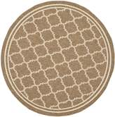 "Safavieh Courtyard Collection CY6918-242 Brown and Bone Indoor/ Outdoor Round Area Rug, 5 feet 3 inches in Diameter (5'3"" Diameter)"