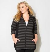 Avenue Blurred Stripe Colorblock Active Jacket