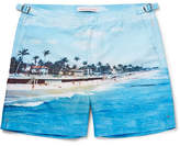 Orlebar Brown Bulldog Mid-length Printed Swim Shorts - Blue