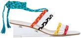 Ritch Erani NYFC braided wedge sandals - women - Leather/Suede/Plexiglass - 36