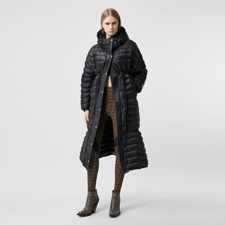 Burberry ogo Tape ightweight Hooded Puffer Coat
