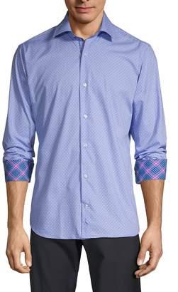 Tailorbyrd Trim-Fit Geometric-Print Shirt