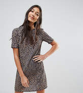 Oh My Love Tall Leopard Print T-Shirt Dress