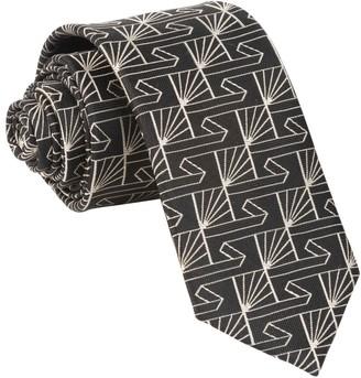 Tie Bar Art Deco Fanfare Black Tie