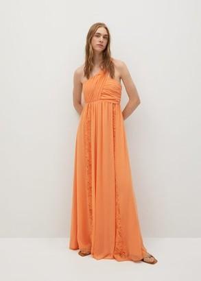 MANGO Wrapped gown orange - 4 - Women