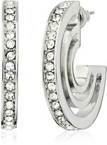 "T Tahari Essentials"" with Crystal Edge Hoop Earrings"