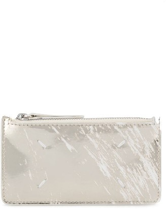 Maison Margiela marble effect metallic wallet
