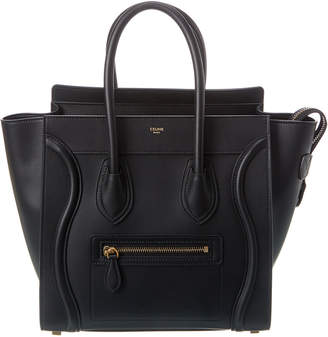Celine Micro Luggage Leather Tote