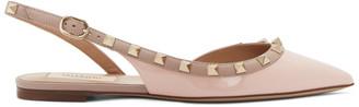 Valentino Pink Garavani Rockstud Slingback Ballerina Flats