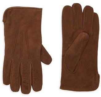 Portolano Cashmere-Lined Suede Gloves