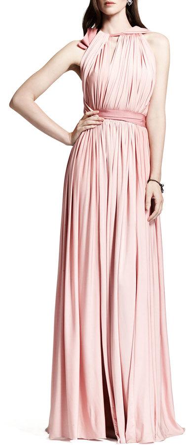 Lanvin Grecian Liquid Jersey Gown, Rose