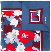 Kiton floral motif pocket square