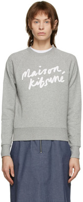MAISON KITSUNÉ Grey Handwriting Sweatshirt