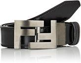 Fendi Men's Reversible Leather Belt-BLACK