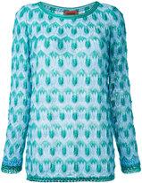 Missoni crochet knit jumper - women - Polyester/Cupro/Viscose - 40