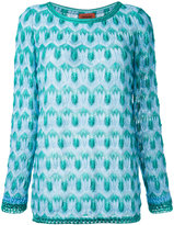Missoni crochet knit jumper - women - Polyester/Cupro/Viscose - 46