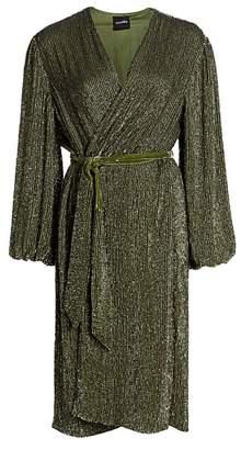 retrofete Audrey Sequin Wrap Dress
