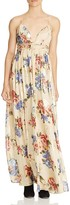 Free People Shadows Printed Silk-Blend Gown