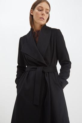 SABA Perry Wool Blend Drape Coat