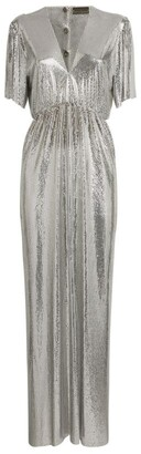 Paco Rabanne Short-Sleeved Chainmail Maxi Dress