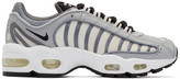 Nike Grey and White Air Max Tailwind IV Sneakers