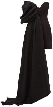 Ellery Ecuador Draped Taffeta Mini Dress - Womens - Black