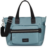 Marc by Marc Jacobs Biker Leather-Trim Nylon Babybag, Blue