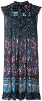 Anna Sui paisley print flared dress