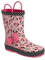 Western Chief Toddler Girl's Disney Minnie Mouse Waterproof Rain Boot