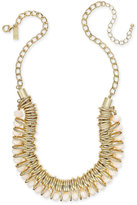 INC International Concepts Gold-Tone Multi-Ring Beaded Statement Necklace, Only at Macy's