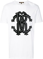 Roberto Cavalli logo print T-shirt - men - Cotton - XS