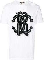 Roberto Cavalli logo print T-shirt - men - Cotton - XXL