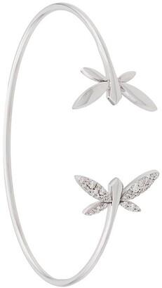 Anapsara 18kt white gold Dragonfly diamond cuff