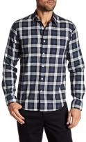 Theory Rammy Long Sleeve Plaid Regular Fit Woven Shirt