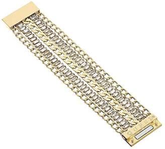 GUESS Multi Row Chain Magnetic Close Cuff Bracelet