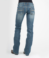 Stetson Blue & Gold Leaf Jeans - Women