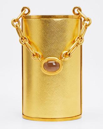 Oscar de la Renta Tower Minaudiere with Jeweled Handle