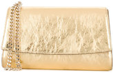 Sergio Rossi metallic clutch bag - women - Cotton/Leather - One Size